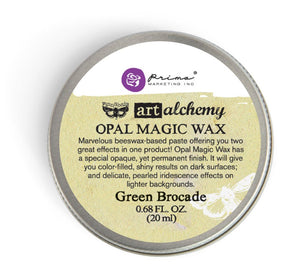 Art Alchemy-Opal Magic Wax-Green Brocade Vintage Attic Sevenoaks