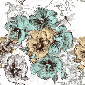 Beautiful Premium Rice Decoupage Paper from Dixie Belle - Belles and Whistles! available from Official online retailer and Premium UK Stockist Blue and Yellow Floral