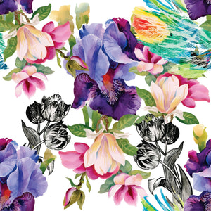 Beautiful Premium Rice Decoupage Paper from Dixie Belle - Belles and Whistles! available from Official online retailer and Premium UK Stockist Colourful Floral with Black and White