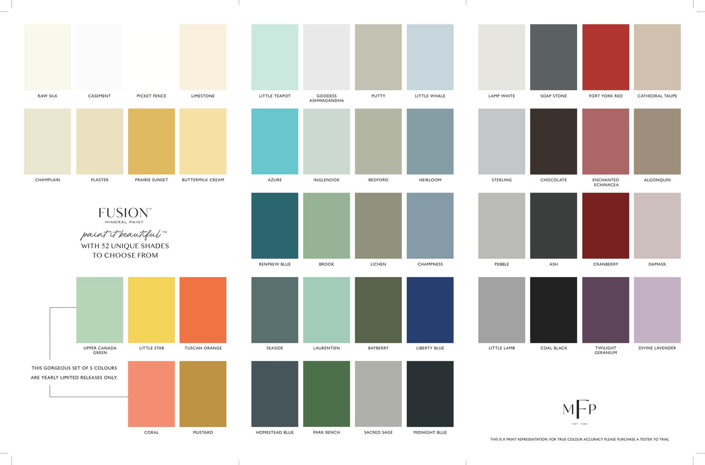 Fusion Mineral Paint Colour Brochure And Getting Started With Fusion Vintage Attic Sevenoaks