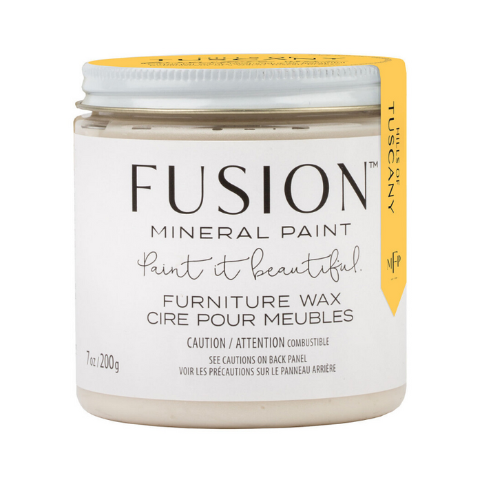 Fusion Mineral Paint Furniture Wax - SCENTED - CLEAR - Hills of Tuscany