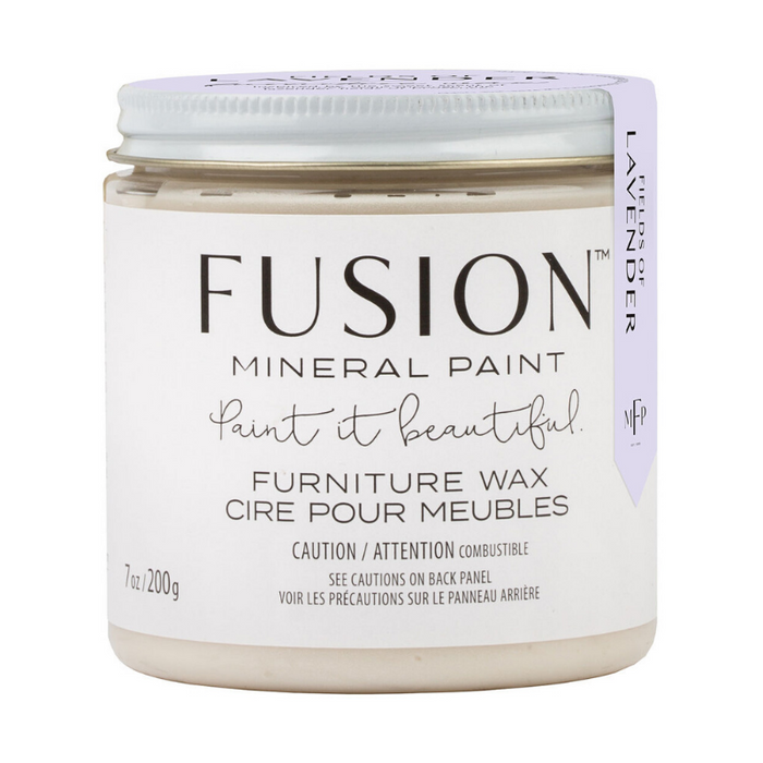 Fusion Mineral Paint Furniture Wax - SCENTED - CLEAR - Fields of Lavender