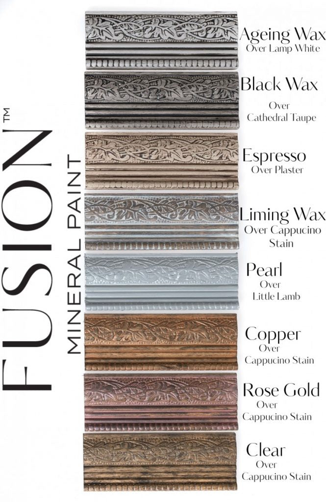 FUSION METALLIC FURNITURE WAXES - PEARL - COPPER - ROSE GOLD