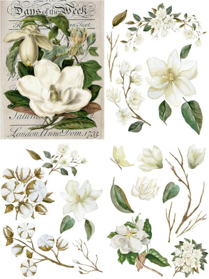 Dixie Belle Paint Decor Transfers, Belle and Whistles Decor Transfers available from approved online retailer and premium UK stockist based in Kent, Magnolia Garden