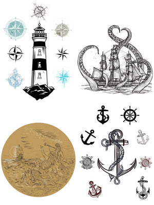 Dixie Belle Paint Decor Transfers, Belle and Whistles Decor Transfers available from approved online retailer and premium UK stockist based in Kent, Nautical Life