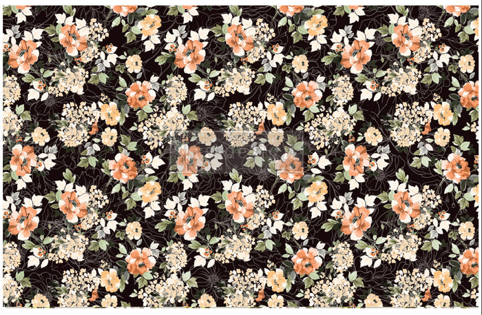 "Decoupage Tissue Paper | Redesign With Prima | MIDNIGHT AMBER |  19"" X 30"" 1 x sheet"