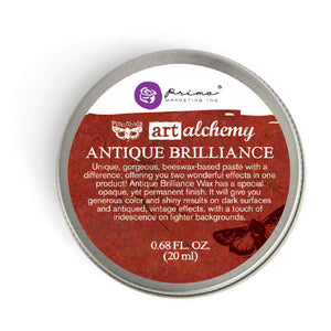 Prima Finnabair Art Alchemy Antique Brilliance Wax Fire Ruby  Vintage Attic Sevenoaks UK
