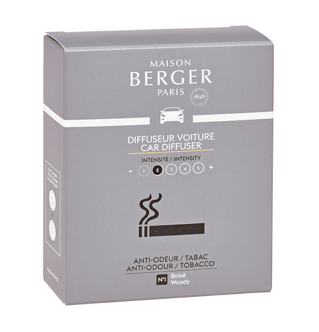 Maison Berger - Tobacco Anti-Odour Set of 2 Car Diffuser Refills - Car Diffusers
