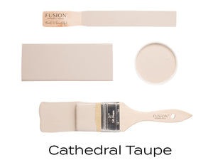 Cathedral Taupe Fusion Mineral Paint UK availalbe from Vintage Attic Sevenoaks approved online retailer