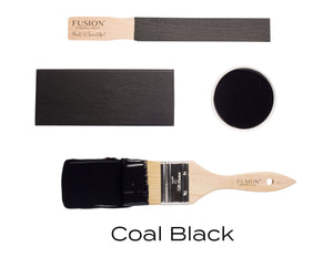 Coal Black Fusion Mineral Paint UK availalbe from Vintage Attic Sevenoaks approved online retailer