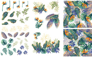 Dixie Belle Paint Decor Transfers, Belle and Whistles Decor Transfers available from approved online retailer and premium UK stockist based in Kent, Tropical Leaves