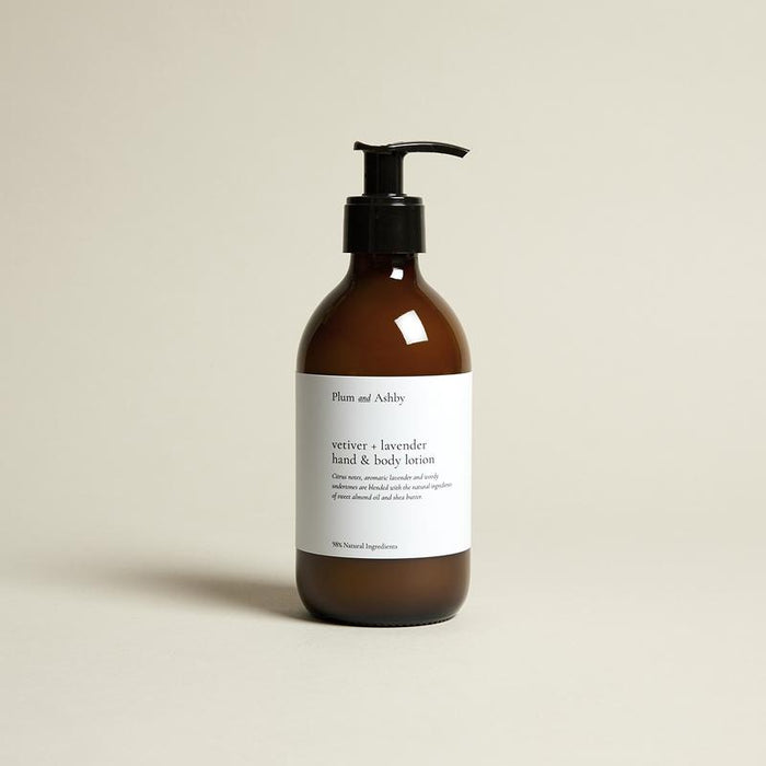 Plum & Ashby - Hand & Body Lotion - Vetifer & Lavender
