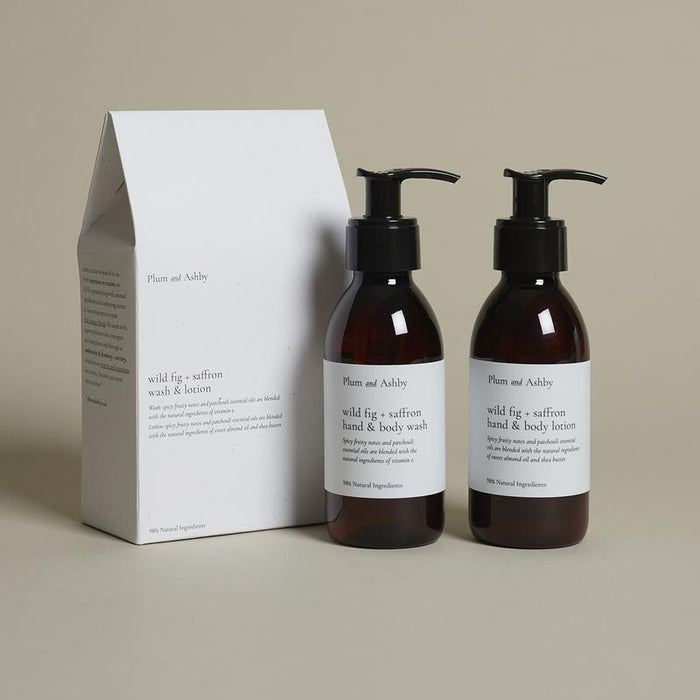Plum & Ashby - Gift Sets - Duo Gift Set of Wild Fig & Saffron Wash & Lotion