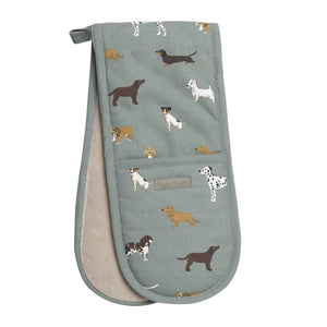Sophie Allport - Double Oven Gloves - Fetch Dogs