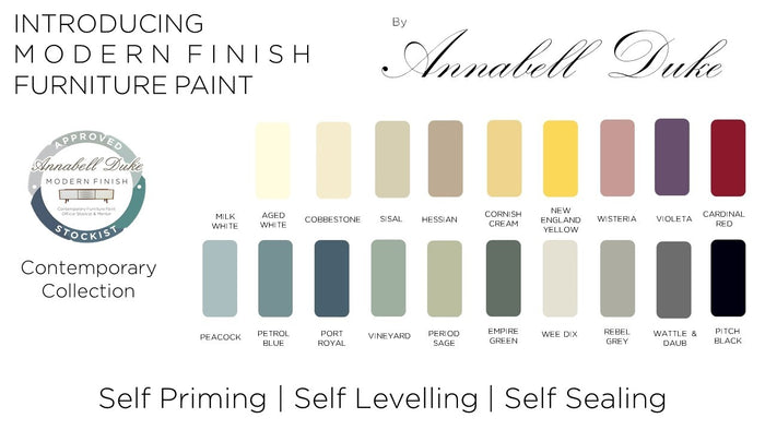 ** SALE ** Annabelle Duke Modern Finish Paint ** SALE 15% DISCOUNT APPLIED AT CHECKOUT