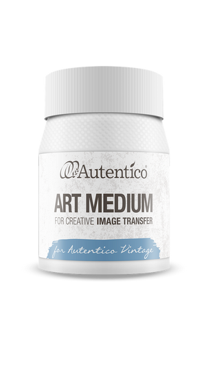Autentico Paint UK Art Medium Transfer Gel available from Vintage Attic Sevenoaks