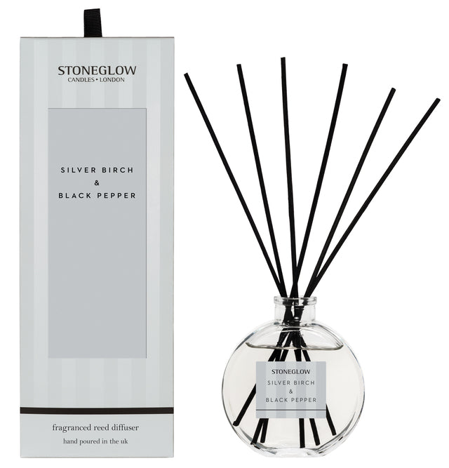 Modern Classic - Silver Birch & Black Pepper Reed Diffuser - Stoneglow