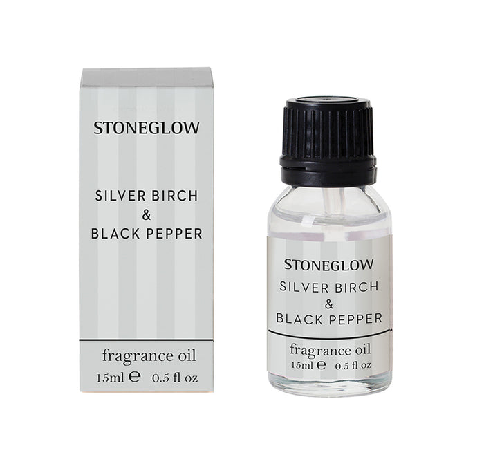Modern Classic - Silver Birch & Black Pepper Fragrance Oil 15ml - Stoneglow