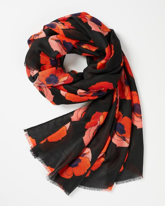 Fable - Scarf - Perfect Poppy - Black