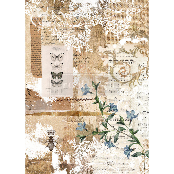 **NEW** Re-Design Prima Decor - Rice Paper - Botanical Sonata