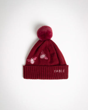 Fable - Beanie - Bumble Bee - Burgundy