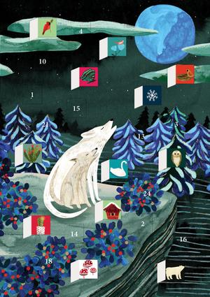 Roger La Borde - Advent Calendar Card - By the Light of the Moon