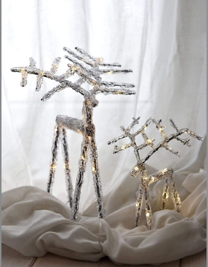Reindeer - Clear - Led Lights - Large