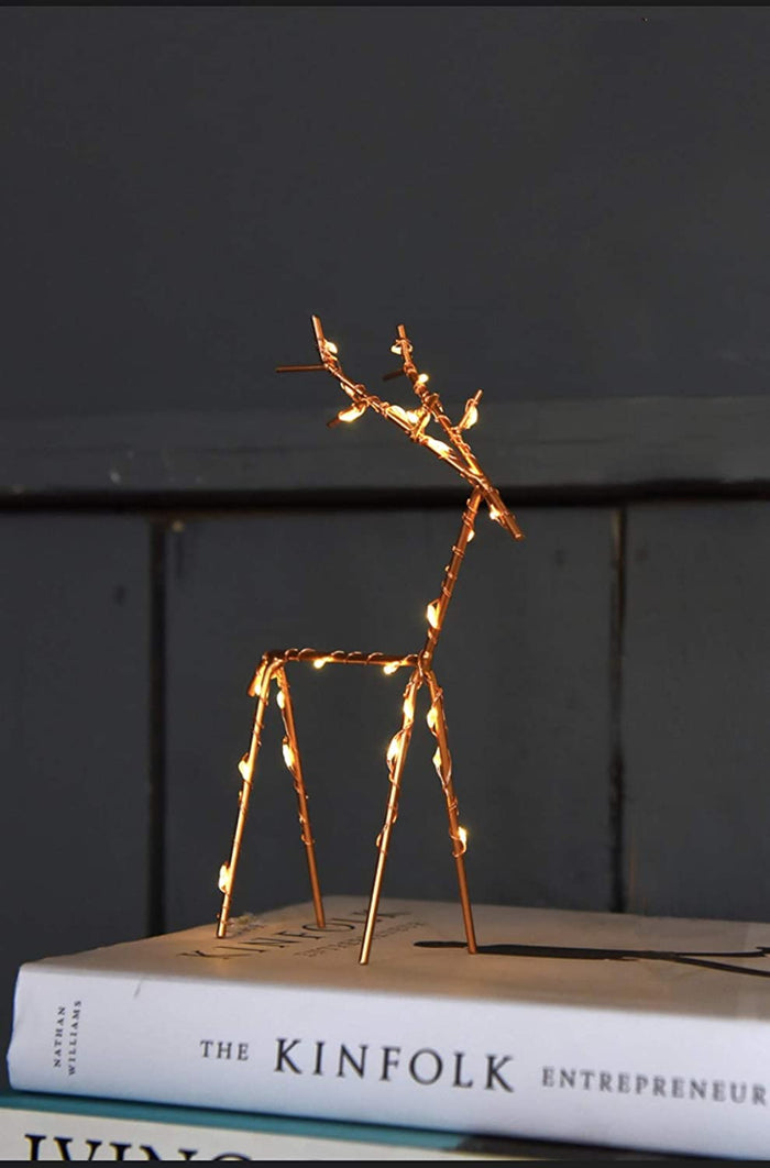 Reindeer - Copper - Led Lights - Small