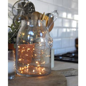 LED copper lights wire string - available to buy online from official UK online retailer and approved stockist Vintage Attic Sevenoaks, Kent