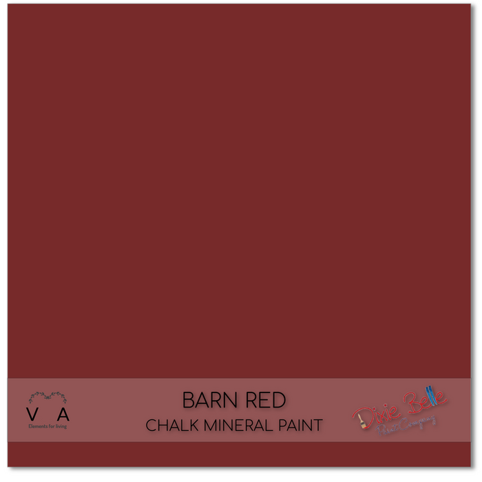 Chalk Mineral Paint | Dixie Belle Paint | BARN RED | Deep Red