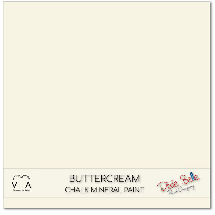 Chalk Mineral Paint | Dixie Belle Paint | BUTTERCREAM | Creamy White