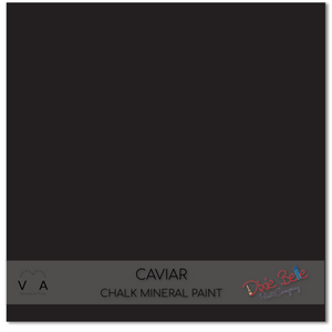 Caviar black Dixie Belle Chalk Mineral Paint available to buy online from official UK online retailer and approved stockist Vintage Attic Sevenoaks, Kent