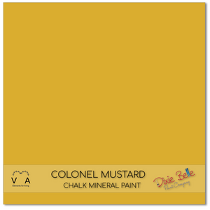 Colonel Mustard Dixie Belle Chalk Mineral paint available to buy online from official UK online retailer and approved stockist Vintage Attic Sevenoaks, Kent