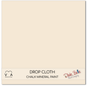 Drop cloth Dixie Belle Chalk Mineral paint available to buy online from official UK online retailer and approved stockist Vintage Attic Sevenoaks, Kent