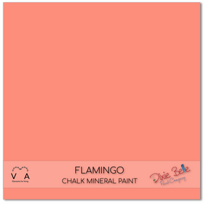 Flamingo Dixie Belle Chalk Mineral paint available to buy online from official UK online retailer and approved stockist Vintage Attic Sevenoaks, Kent