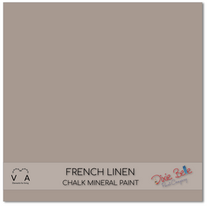 French linen Dixie Belle Chalk Mineral paint available to buy online from official UK online retailer and approved stockist Vintage Attic Sevenoaks, Kent