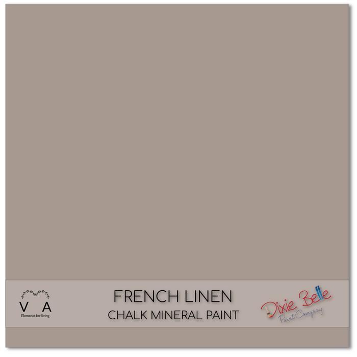 Chalk Mineral Paint | Dixie Belle Paint | FRENCH LINEN | Taupe/Grey