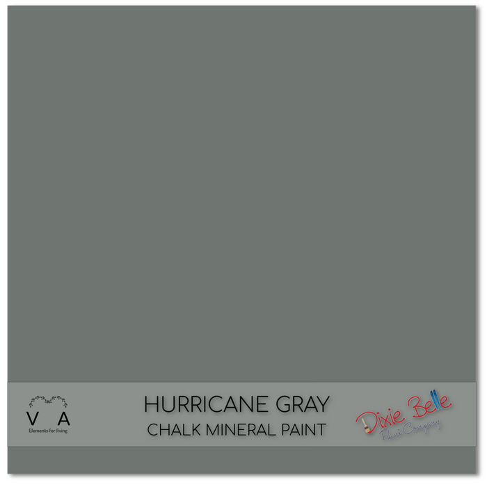 Chalk Mineral Paint | Dixie Belle Paint | HURRICANE GRAY | Medium Grey