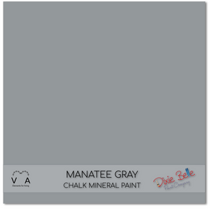 Manatee Grey Grey Dixie Belle Chalk Mineral paint available to buy online from official UK online retailer and approved stockist Vintage Attic Sevenoaks, Kent