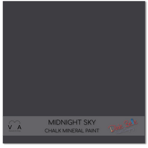Midnight Sky darkest blue black charcoal Dixie Belle Chalk Mineral paint available to buy online from official UK online retailer and approved stockist Vintage Attic Sevenoaks, Kent