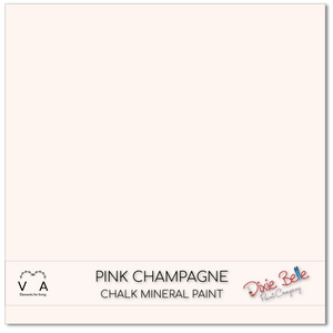 Pink Champagne Dixie Belle Chalk Mineral paint available to buy online from official UK Premier online retailer and approved stockist Vintage Attic Sevenoaks, Kent