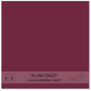Plum crazy purple deep mauve Dixie Belle Chalk Mineral paint available to buy online from official UK Premier online retailer and approved stockist Vintage Attic Sevenoaks, Kent
