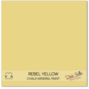 Rebel yellow lemon Dixie Belle Chalk Mineral paint available to buy online from official UK Premier online retailer and approved stockist Vintage Attic Sevenoaks, Kent