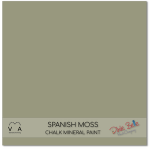 Spanish moss green sage Dixie Belle Chalk Mineral paint available to buy online from official UK Premier online retailer and approved stockist Vintage Attic Sevenoaks, Kent