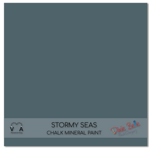 Stormy seas grey blue Dixie Belle Chalk Mineral paint available to buy online from official UK Premier online retailer and approved stockist Vintage Attic Sevenoaks, Kent