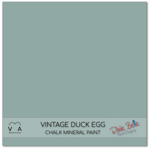 Vintage Duck egg blue green Dixie Belle Chalk Mineral paint available to buy online from official UK Premier online retailer and approved stockist Vintage Attic Sevenoaks, Kent