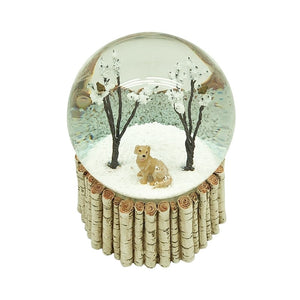 Dog and Birds in Trees Snow Globe available to buy online from official UK online retailer and approved stockist Vintage Attic Sevenoaks, Kent