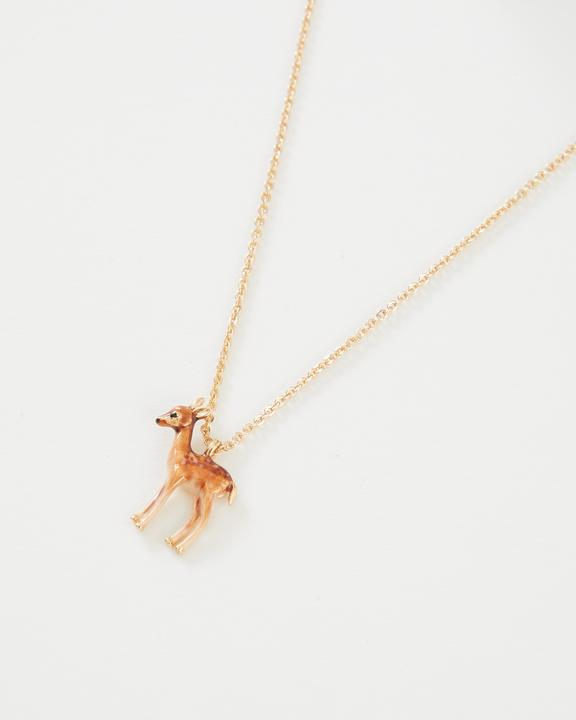Fable - Jewellery - Enamelled Fawn - Short Necklace