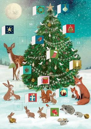 Roger La Borde - Advent Calendar Card - Festive Forest Tree