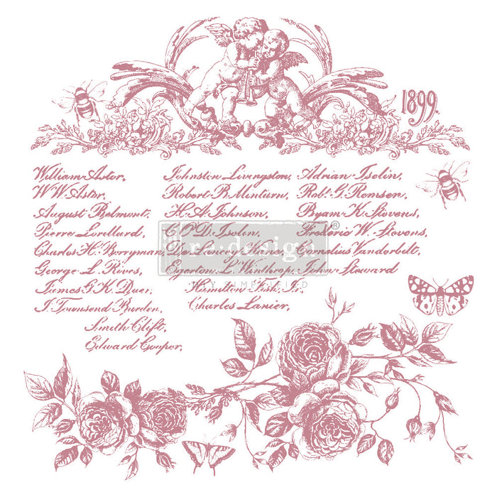 Clearly Aligned Clear Cling Stamps | Re-Design Prima Decor | Floral Script
